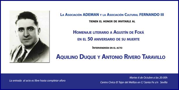 Homenaje literario a Agustín de Foxá