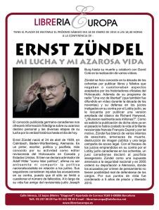 CONFERENCIA ERNST ZUNDEL BARCELONA