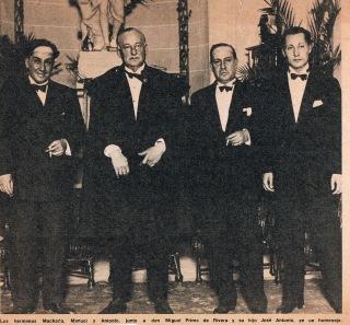 Los hermanos Machado y Miguel y José Antonio Primo de Rivera